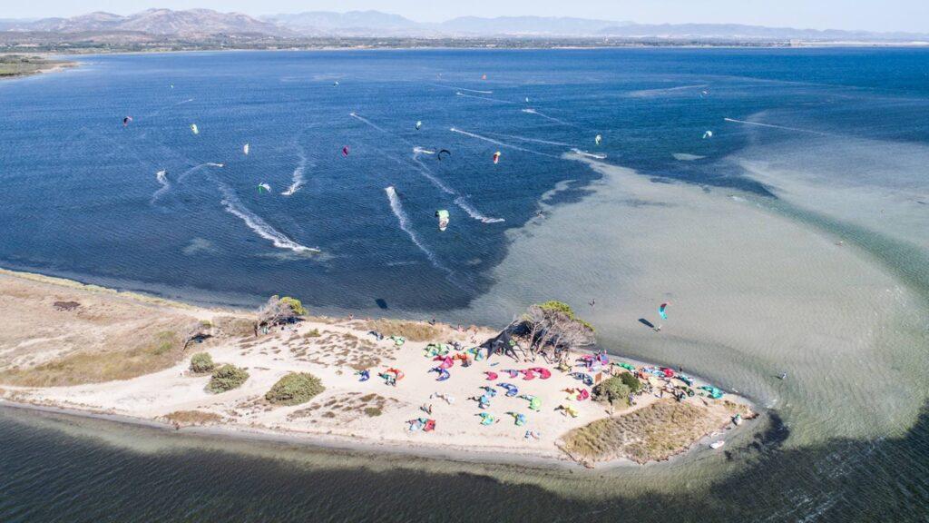 Il kite spot di Punta Trettu in Sardegna